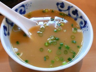 【ランチ】本八幡・魂麺 まつい/魂つけめんのつけ汁 スープ割り