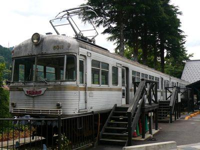 【'08北陸の旅】山中温泉で展示される、元「北陸鉄道 しらさぎ号」