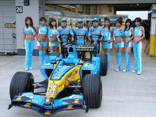 マイルドセブンルノーF1チームとアロンソ・フィジケラ・コバライネン各選手